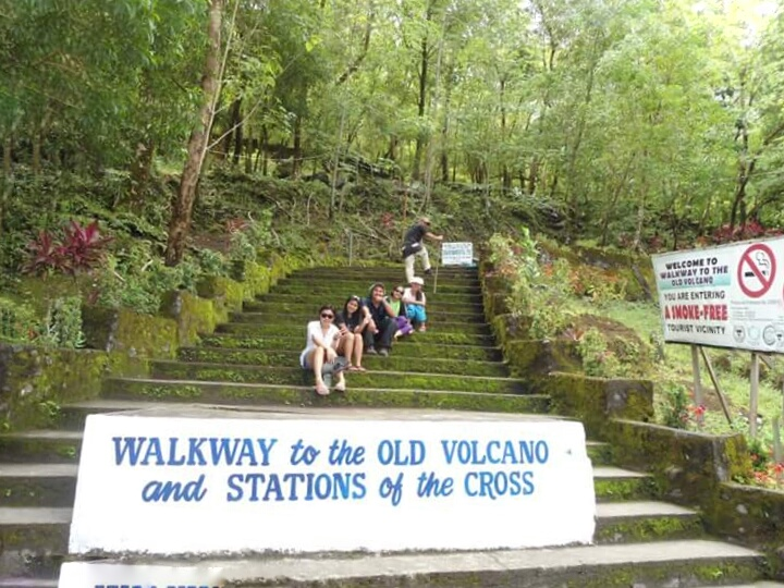 WALKWAY TO THE OLD VOLCANO AND STATIONS OF THE CROSS