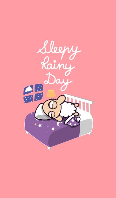 UNSLEEP SHEEP : Sleepy Rainy Day (Pink)