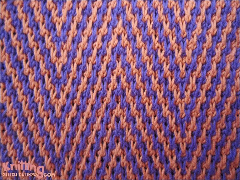 Zebra Chevrons Knitting Stitch Patterns