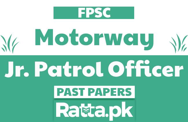 FPSC Junior Patrol Officer Past Papers solved pdf of Motorway Police
