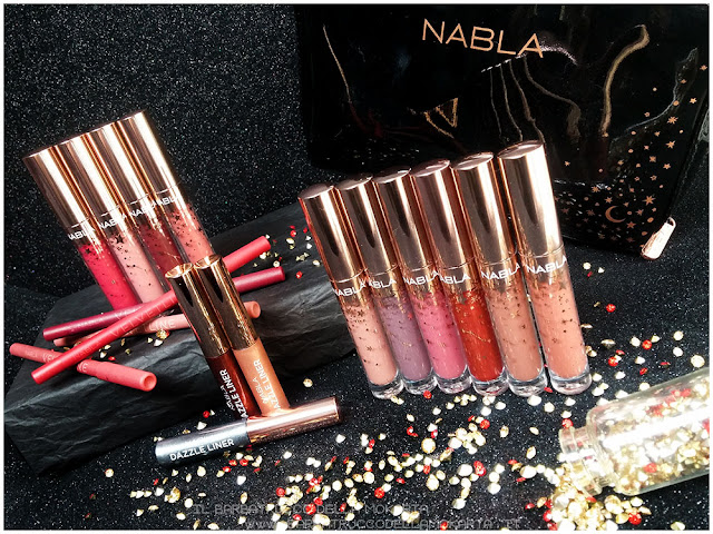 nabla holiday collection liquid lipstick eyeliner   review