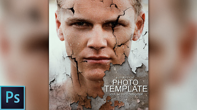 Cracked Portrait Poster - Photoshop Template