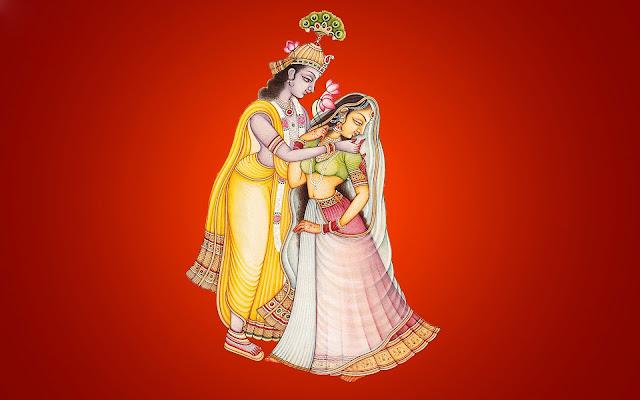 Beautifull Lord Krishna & Radha  Wallpaper