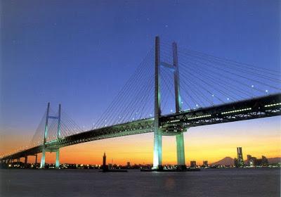 Pesona Pemandangan Yokohama Dari Jembatan Gantung Jepang