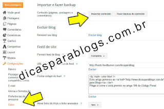 Como Fazer Backup Completo do Blogger