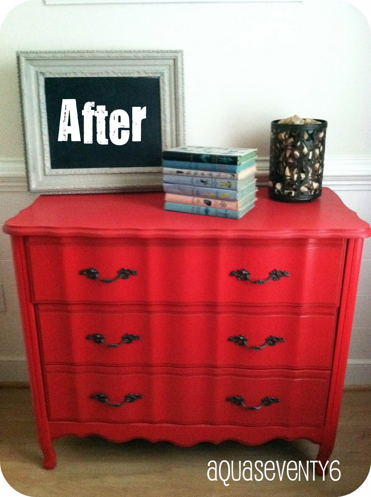 Aqua Seventy6 Oldie But A Goodie Red Dresser