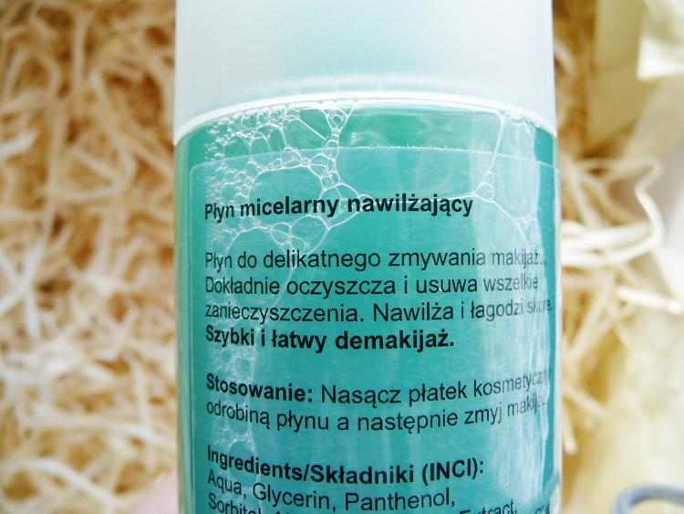 nawilżający płyn micelarny Nacomi  właściwości