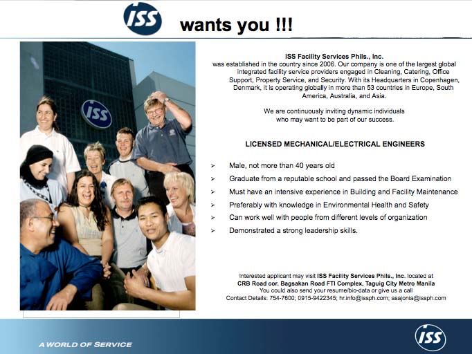 Psme Batangas East Chapter Job Opportunity At Iss