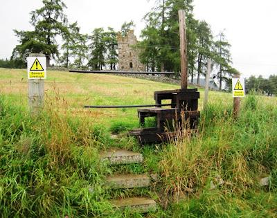 Stile leading to Knock Castle, Seven Bridges Trail