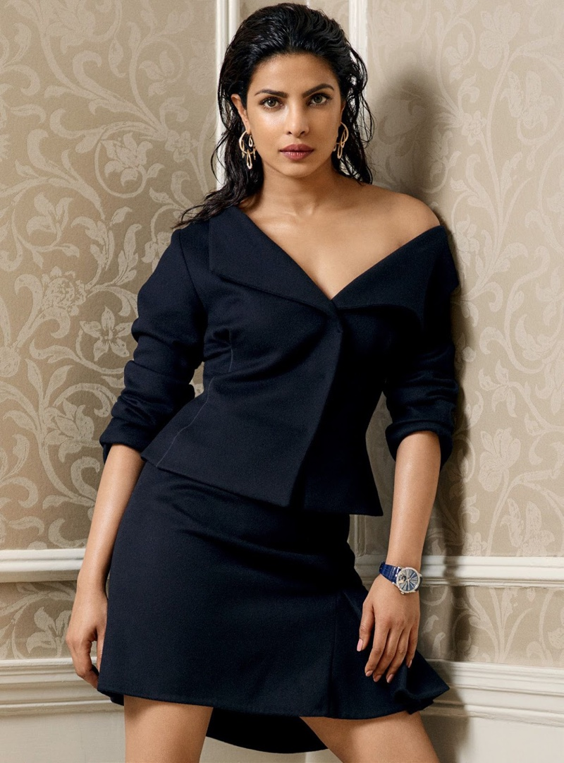 Priyanka Chopra wears Dior jacket and skirt - Harpers Bazaar India