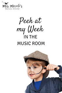 Peek at my Week: Ideas for your elementary music room, including small group composing, improvising word patterns, centers for major scale, and more!