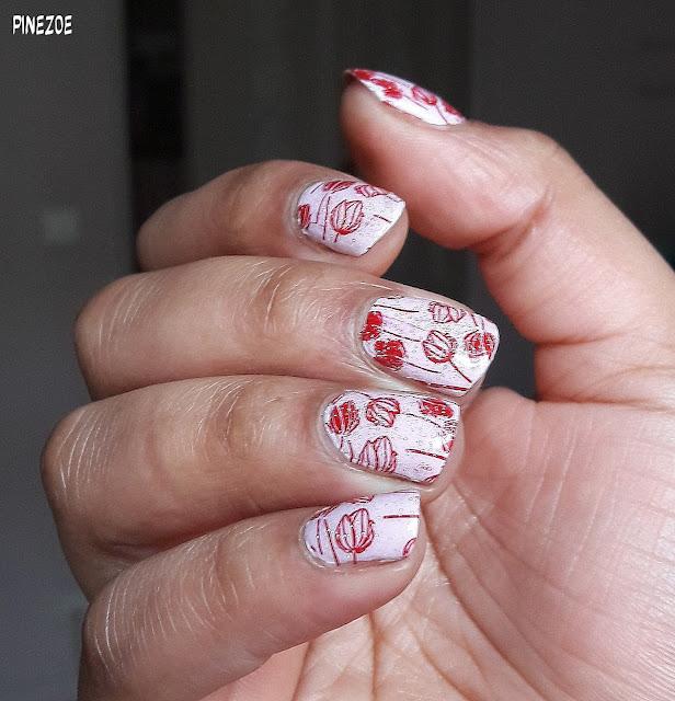 Kiko - Ribbon Pink et stamping fleur BPL 029