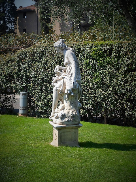 Statue in the Garden at Villa Giardino Paderno Franciacorta