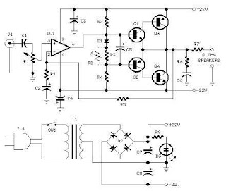 Skema Rangkaian Power Amplifier 18 Watt ~ Dunia informatika