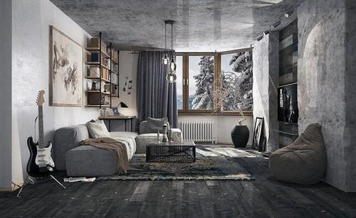 betoni tapetti Taustakuva Betoni makuuhuoneessa aloilla kuten suunnittelu inspiraatiota