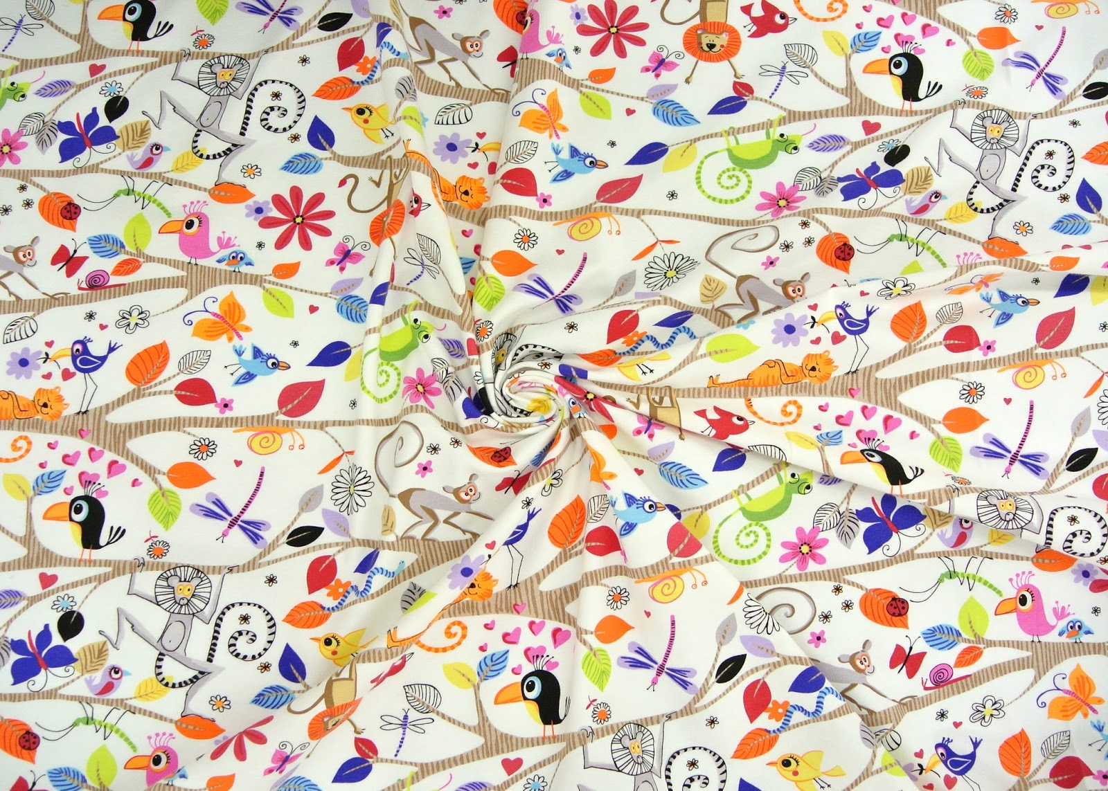 Treadle yard goods cotton knit prints for Knit fabric childrens prints