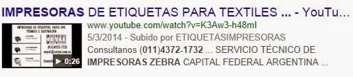 Bs As Argentina Etiquetas autoadhesivas 110 X 50