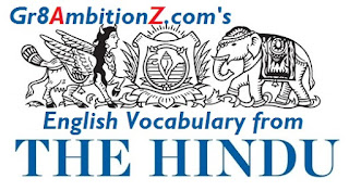 Vocabulary from Hindu Editorial 2018