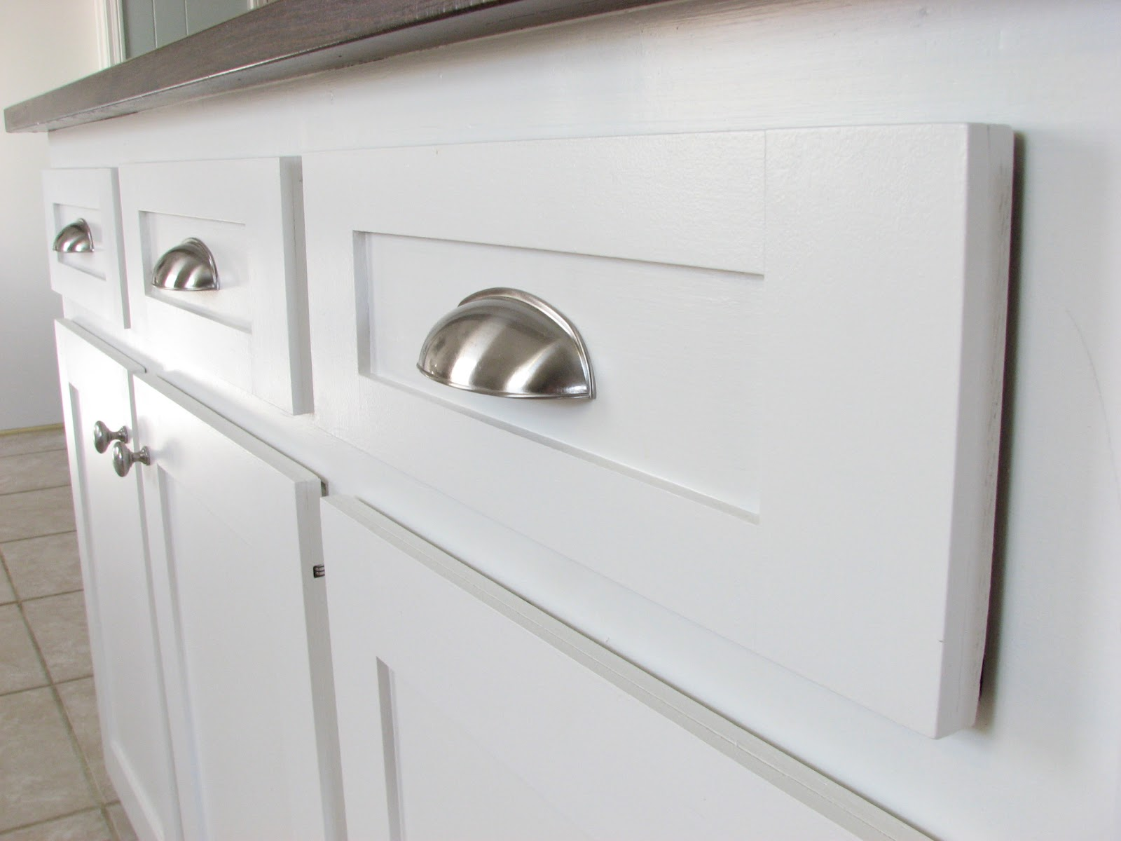 How To Install Kitchen Cabinet Hardware Our Nesting Ground Kitchen Cabinets