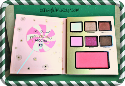 Swatches e Prime Impressioni Too Faced Grand Hotel peppermint mocha palette