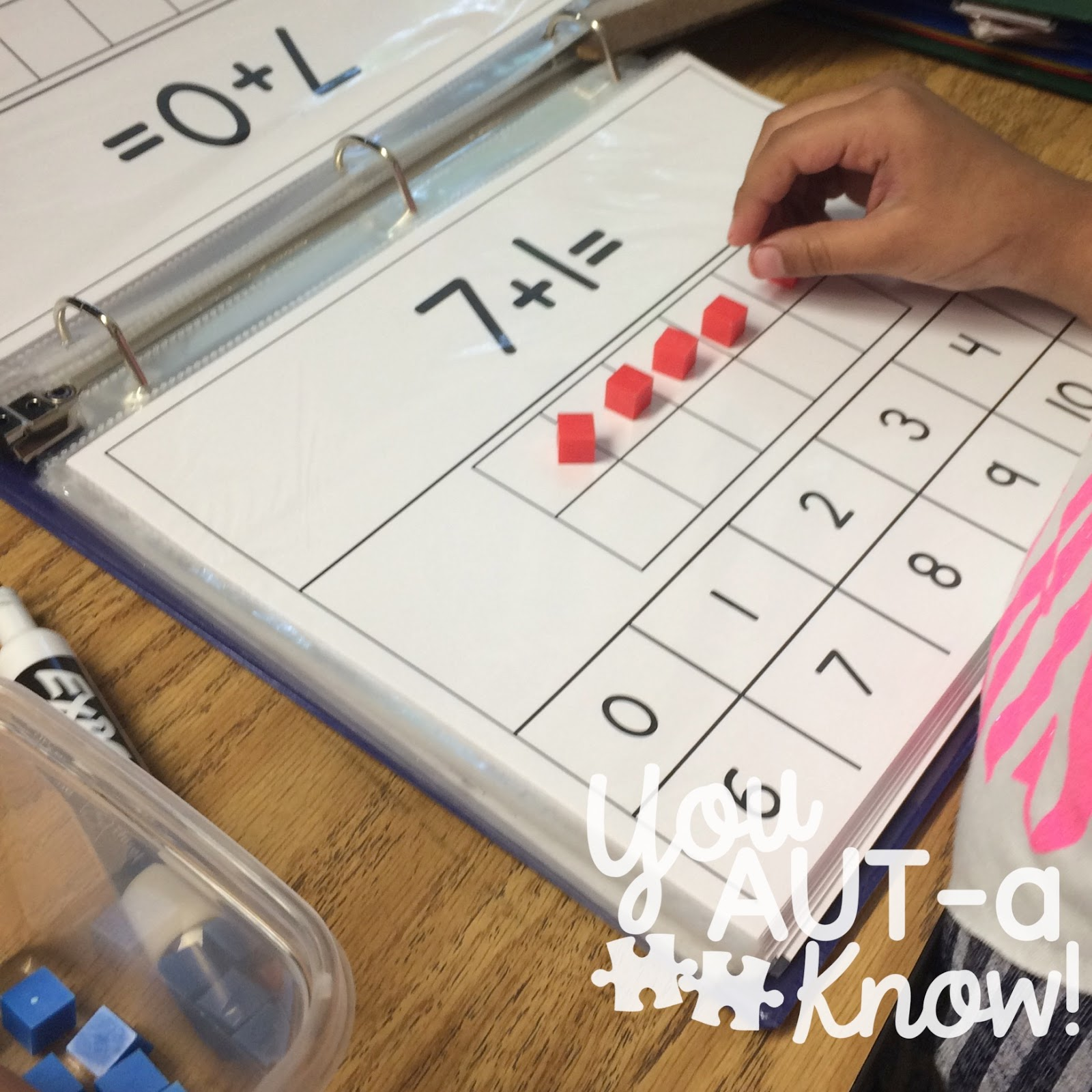 Utilizing manipulatives to teach math skills gives a visual support for students as they begin to add and subtract.