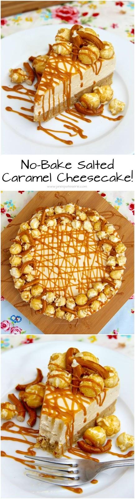 No-Bake Salted Caramel Cheesecake