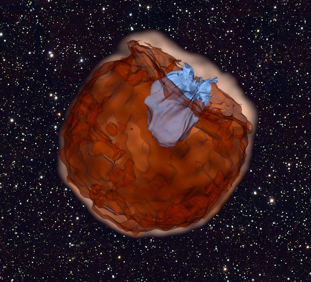 Observations of supernova colliding with nearby companion star take astrophysicists by surprise