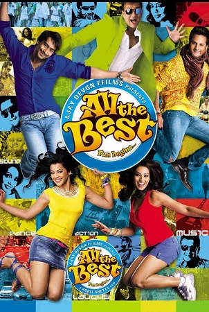 Poster Of All the Best 2009 Hindi 400MB BRRip 480p Free Download Watch Online