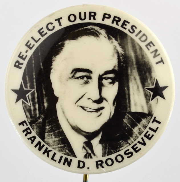 5 November 1940 worldwartwo.filminspector.com Franklin Roosevelt campaign button