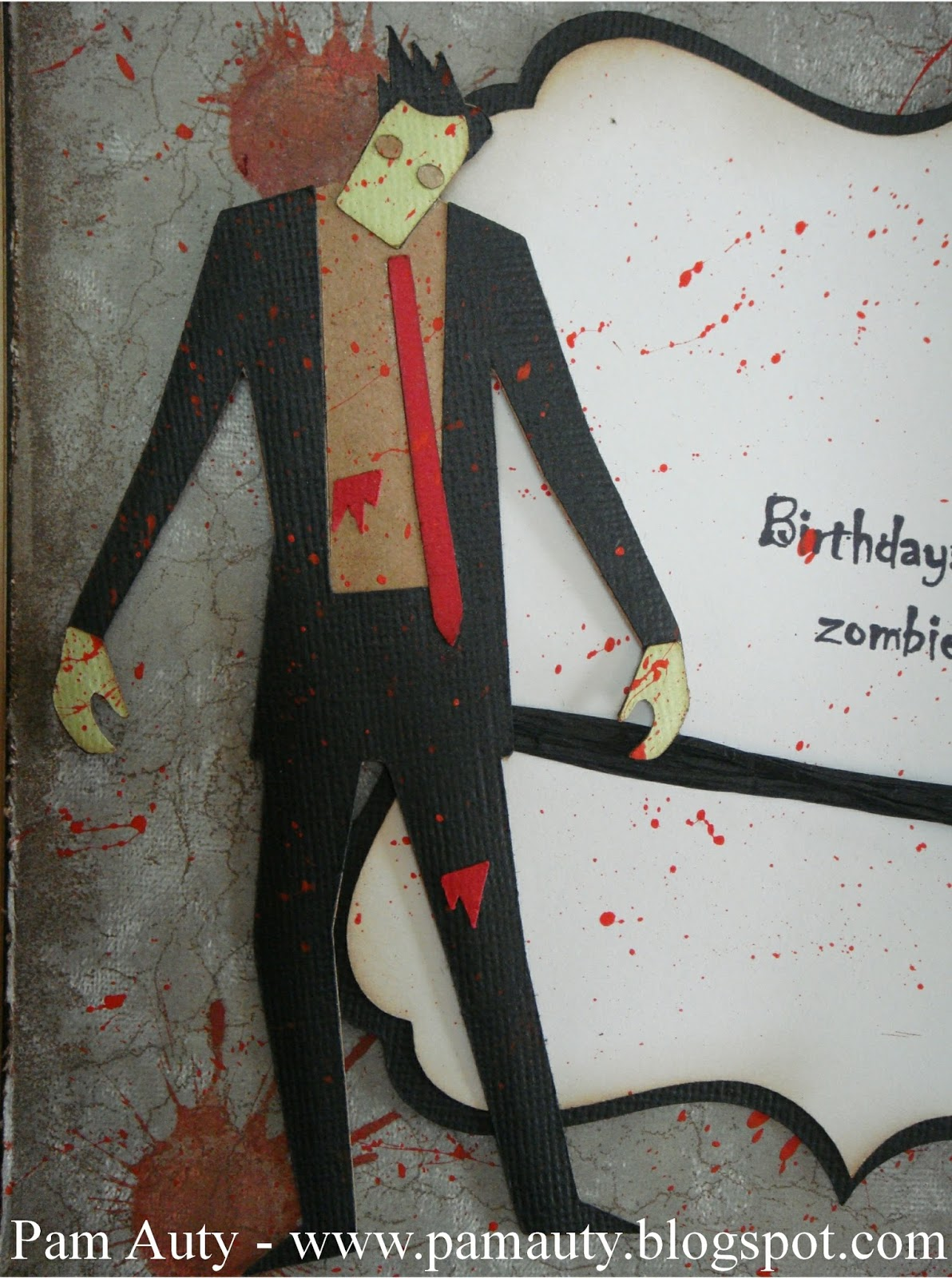 Pam auty walking dead inspired zombie birthday cards so i decided to make my husband a walking dead inspired card for his birthday kristyandbryce Choice Image