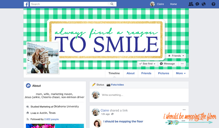 Gingham Facebook Cover