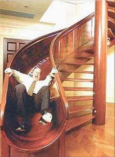 Diseño de tobogan de madera muy creativo