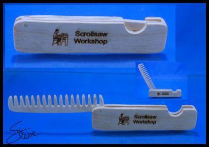 Scrollsaw Workshop: Folding Pocket Comb Scroll Saw Pattern  Happy