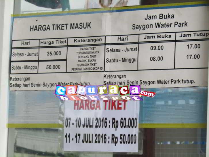 Liburan Di Saygon Waterpark Berapa Harga Tiket Masuknya