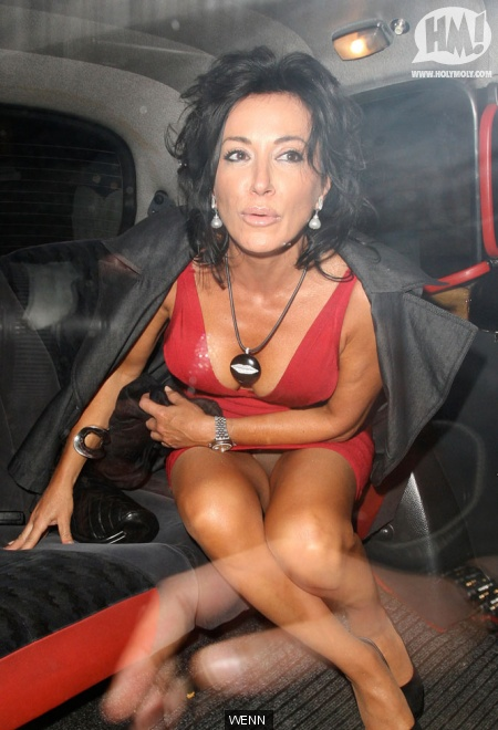 Herve Leger Sightings Nancy Dell Olio Spotted Leaving The