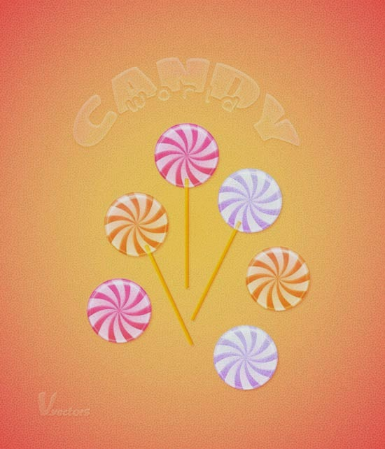 Use Warp Effects to Create a Pastel Colored Candies Illustration