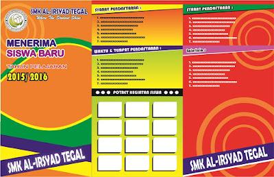 Desain Brosur Penerimaan Peserta Didik Baru (PPDB) Sekolah CorelDraw (Filetype:CDR)