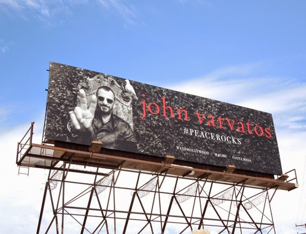 Ringo Starr John Varvatos Peace Rocks billboard