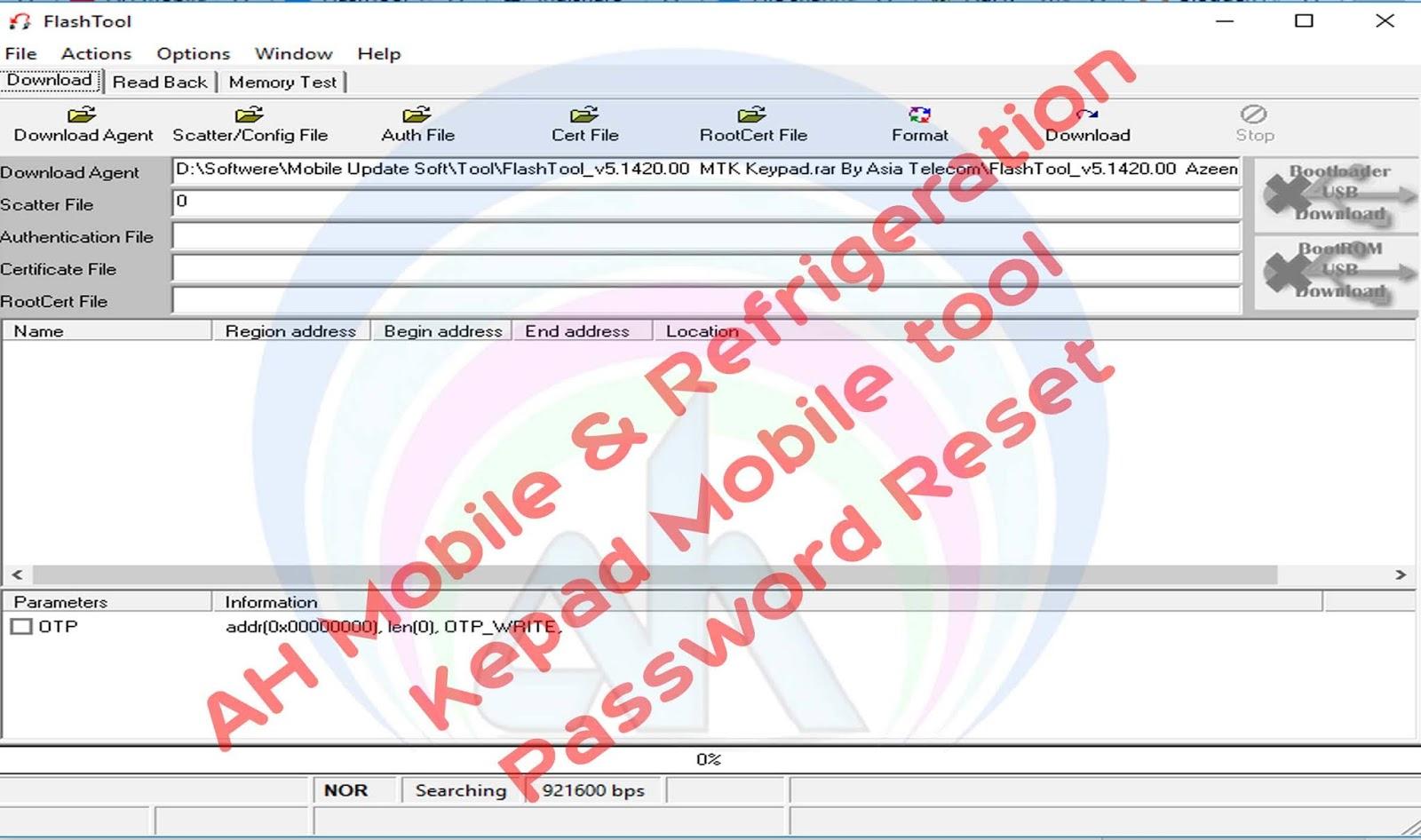 Keypad Mobile Password Unlock Flash Tool Free Download - AH
