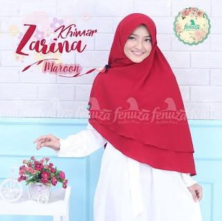 Khimar Fenuza Zarina Np Maroon
