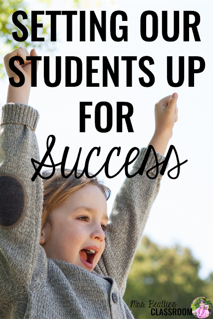 Looking for ways to ensure student success in your classroom? Take a look at the ideas, resources and freebies for setting your students up for success in this blog post! You'll find student success quotes, anchor charts, ideas for differentiation and more!