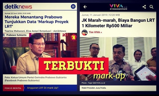 JK Marah Biaya LRT Kelewatan, Ucapan Prabowo Terbukti