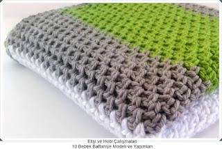 Örgü Bebek Battaniye Modelleri - Tığ işi Battaniye Modelleri 6