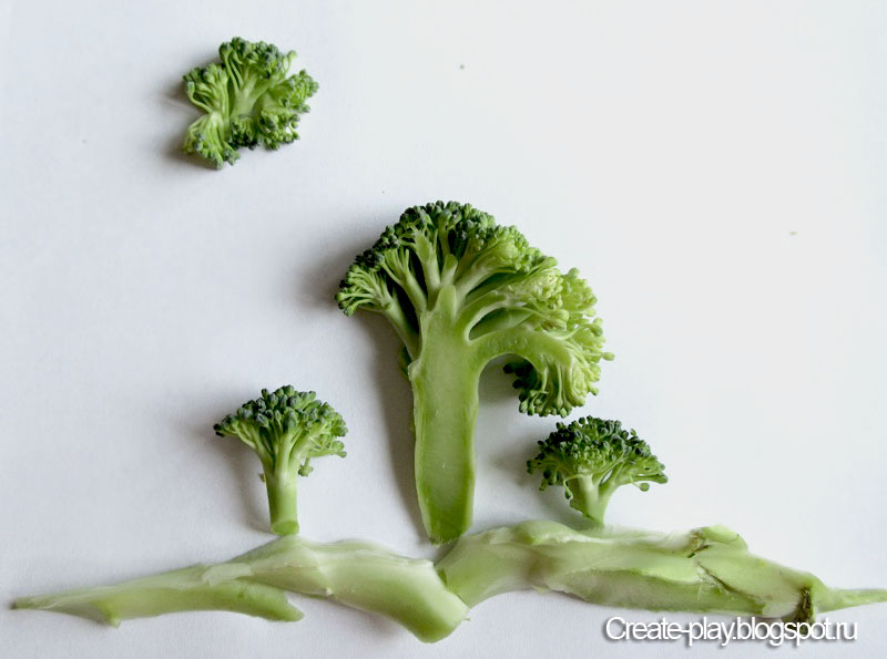 Пейзажи из овощей
