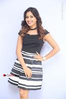 Actress Mi Rathod Pos Black Short Dress at Howrah Bridge Movie Press Meet  0069.JPG