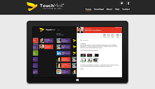 Touchmail's interface demonstration on their website as of 28 March 2016