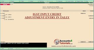 how to enter igst input tax credit entry in tally
