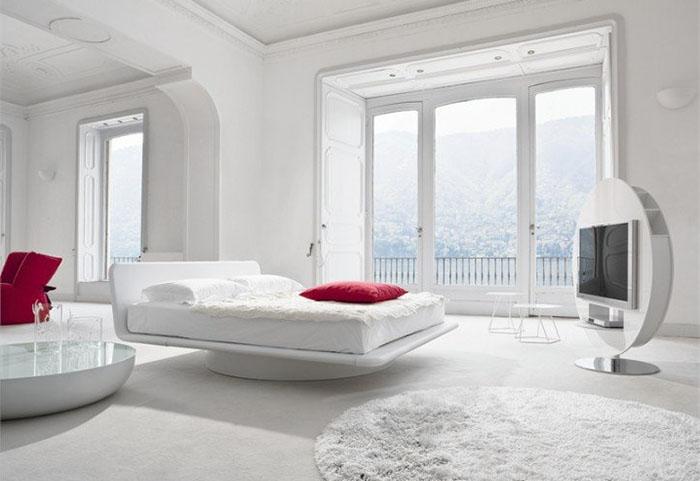 modern beyaz yatak odası tasarımları
