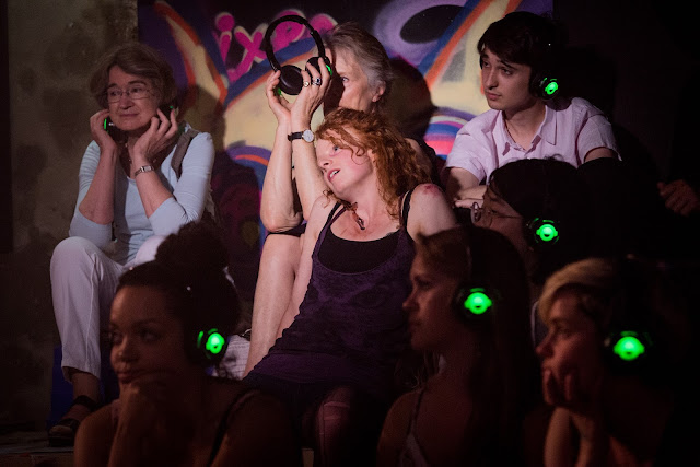 Rosie Lomas and audience - Silent Opera - Vixen (photo Robert Workman)