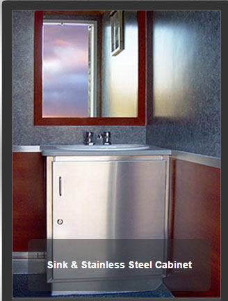 The Newport 1100 Sink & Stainless Cabinet
